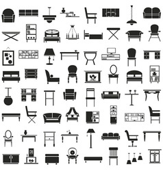 Furniture icons on white vector