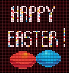 Pixel happy easter vector