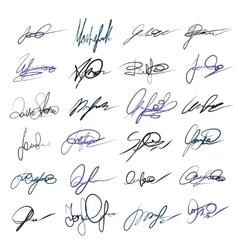 Handwritten personal signatures set vector