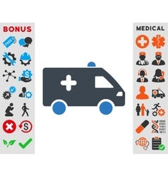 Hospital car icon vector