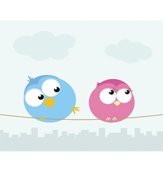 Flirting birds vector