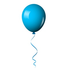 Blue balloon vector