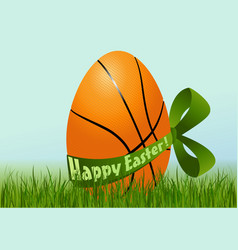 Basketball Easter egg vector image vector image