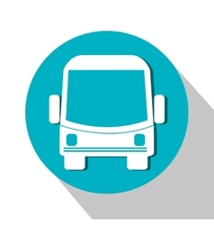 Bus service public isolated icon design vector