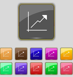 Chart icon sign set with eleven colored buttons vector
