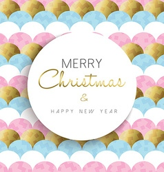 Christmas and new year bright gold design vector image