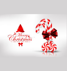 christmas background with lollipop vector image