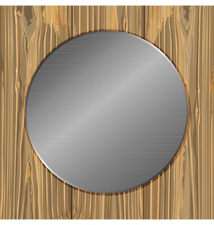 circle on a planks vector image