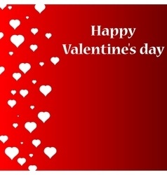 Flying hearts Valentine s day or Wedding vector image vector image