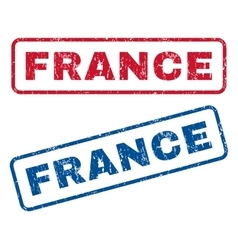 France rubber stamps vector