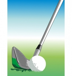 golf illustration vector image vector image