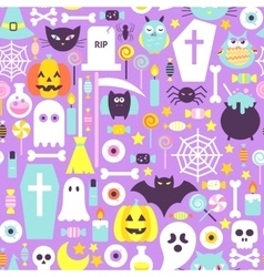 Halloween Modern Colors Seamless Pattern vector image vector image