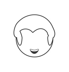 head male avatar outline vector image vector image