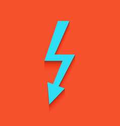 High voltage danger sign whitish icon on vector