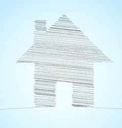 House icon lines template concept vector image