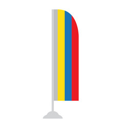 isolated colombian flag vector image