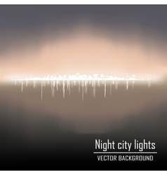 Night city lights background vector
