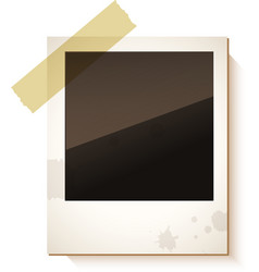 Old polaroid photo frame vector