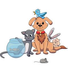 pet shop pets vector image
