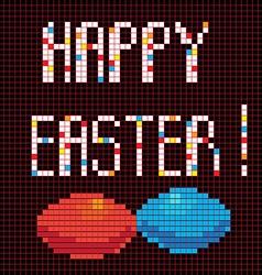 pixel happy easter vector image vector image