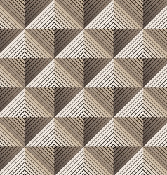 Pyramidal seamless pattern vector