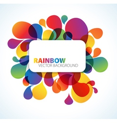 Rainbow floral background vector