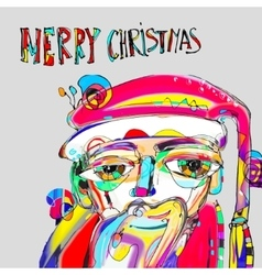 Santa claus in contemporary art style with vector