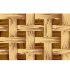 Seamless wooden pattern vector image