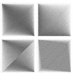 set manga pop art background diagonal lines vector image vector image