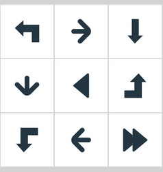 set of 9 simple indicator icons can be found such vector image vector image