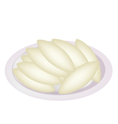 Shortbread Cookies in Oval Shape vector image vector image