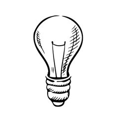 Sketch of light bulb icon vector image