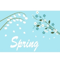 spring flowers on tree vector image vector image