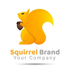 Squirrel volume logo colorful 3d design corporate vector