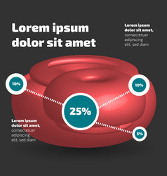 three dimensional abstract shape infographic vector image