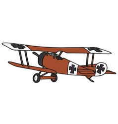 Vintage germany biplane vector
