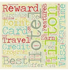 Why It Is Important To Have A Hotel Rewards Credit vector image vector image