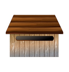 Wooden mailbox vector image