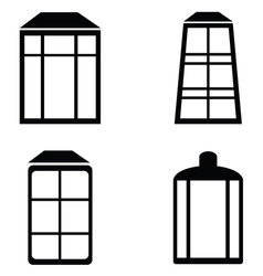 Street lamps icon set vector