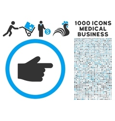 Index finger icon with 1000 medical business vector