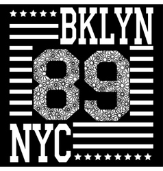 New york brooklyn typography t-shirt vector