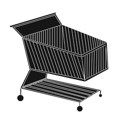 Shopping cart icon in black style isolated on vector image