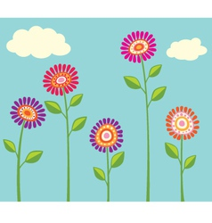 Bright flower cllection vector