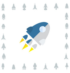 Space rocket icon or startup symbol vector