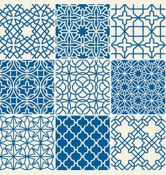turkish texture semless patterns vector image