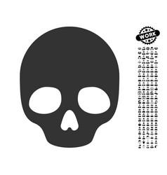 Skull icon with professional bonus vector