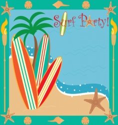 surf party vector image