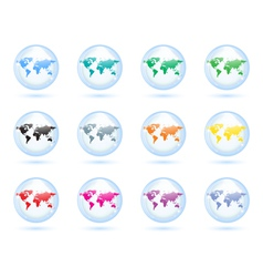 Earth globes set vector image