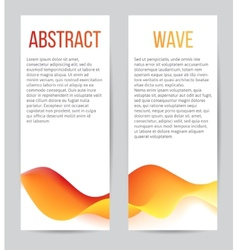 Banners with blend waves vector