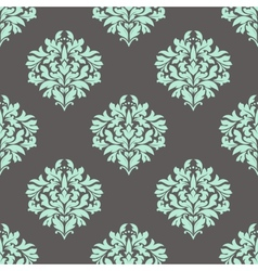 Seamless leaves composition in damask pattern vector image